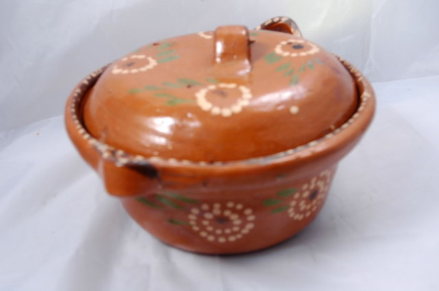 Rustic Old Mexican  Pottery Pot with Lid  **PRICE REDUCTION**
