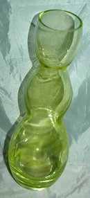 Curvy Modernist Hand blown Yellow Glass Vase * PRICE REDUCTION!*