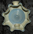 Pinch Pot  Stoneware Pottery Wall Mount Sconce Candle Holder