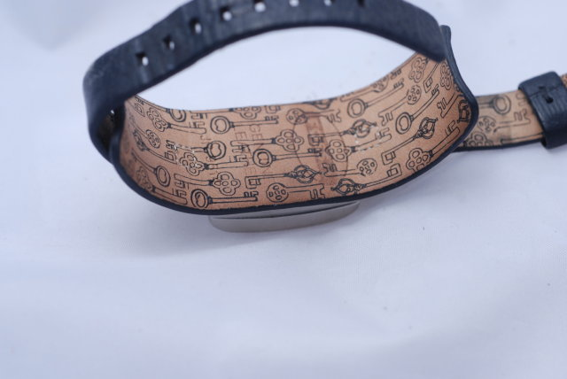 Fossil Watch Silver/Black Geometric pattern face