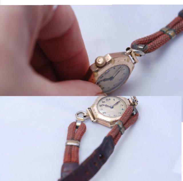 15J Swiss Watch, Wadsworth  Gold Engraved Case