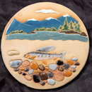 Stoneware Art Tile Textured by Eloise Studio * PRICE REDUCTION!*,