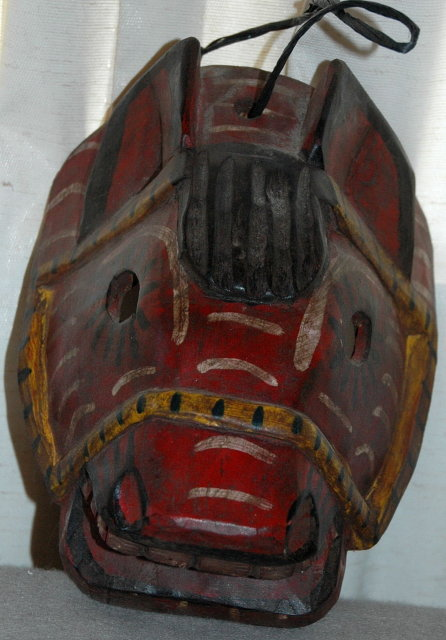 Guatemala Mask Guatemalan Carved Horse Mask Old Carved Wood Folk Art