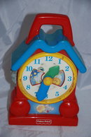 Vintage Fisher Price Toy  Wind up Musical Clock