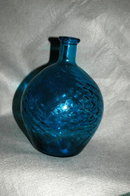 Patterned Glass  Bulbous Bottle   * PRICE REDUCTION!*