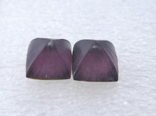 Alexis Bittar Hand Alexis Bittar Carved Lucite Puffed Pyramid Post Earrings