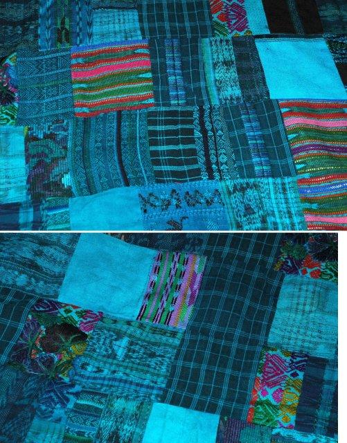 Guatemalan patchwork quilt  Hand made