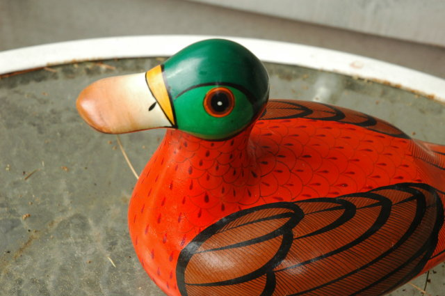 Mexian Pottery Duck artist signed M. Palacious  **PRICE REDUCTION**!!