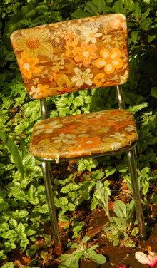 Vintage Chrome & Vinyl Child Kitchen Chair * PRICE REDUCTION!*