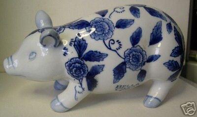 Porcelain Bella Casa Pig by Ganz