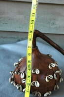 Gourd Rattle with Cowrie Shell Dangle-- Primitive  **PRICE REDUCTION**!!