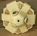 ANTIQUE Light Fixture Porcelain Ceiling 3 -way electric Fixture   *PRICE REDUCTION!*