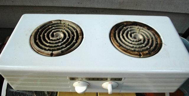 Westinghouse Plate 2 Burners Vintage Portable Stove Top Price Reduction
