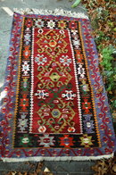 Turkish Tribal Prayer  Rug Vintage Hand Knotted Wool  66