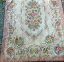 Hooked Wool Rug , antique floral area rug 106