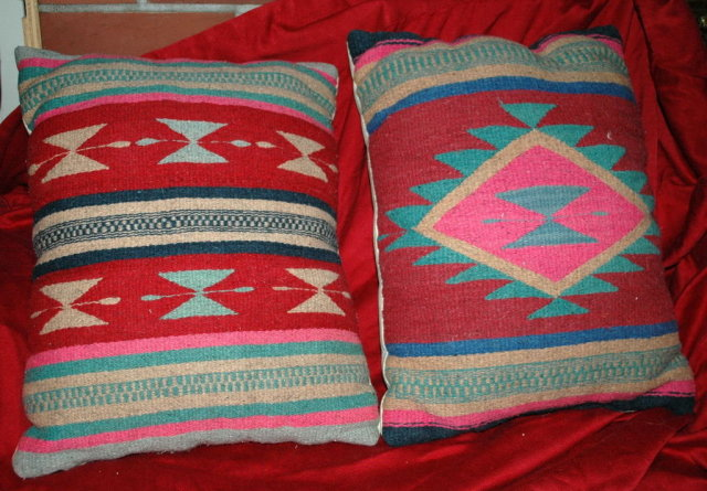 Wool Turkish Kilim Pillow  sold as a  Pair   * PRICE REDUCDED * !