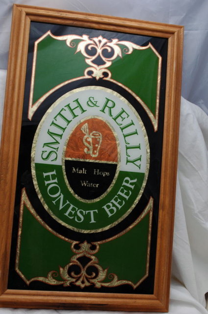 Smith & Reilly Honest Beer Bar Mirror Sign **PRICE REDUCED**!!