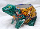 Mexican Talavera Pottery Frog Planter -LARGE