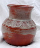 Pine Ridge Sioux  Indian Pottery  Olive Cottier Olla Vase,  Signed