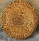 Native American Sewing Basket Splint Ash &  Sweet Grass Northeastern tribe