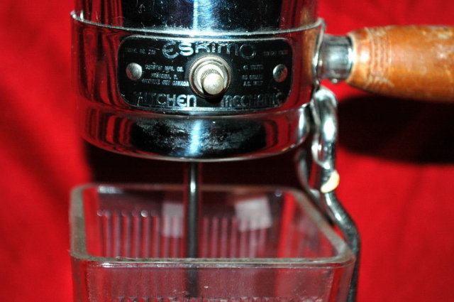 Drink Mixer, Art Deco Chrome Top