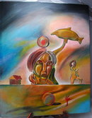 Surrealist Painting, Levi Parsley Oil on Canvas 2006  **PRICE REDUCED!**