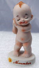 Kewpie Bisque NOVEMBER Birthday  Baby  Kelvin's  Japan