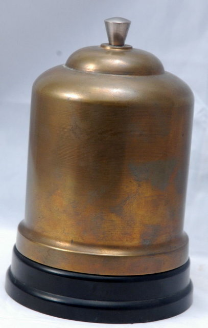 Bakelite Brass Dome Cigarette & Match Holder