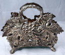 Old Godinger Silver Plated Grape Design Napkin Holder