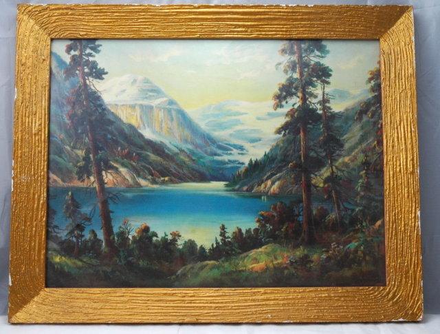Vintage William Thompson Print of Lake Louise