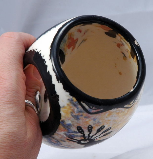 Apache Owl Mug or Cup Signed & Dated