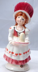 Ceramic Pin Cushion Thimble Holder Doll