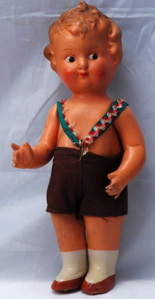 Steha German Boy Doll  Antique Composition