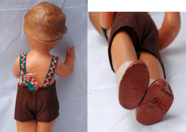 Steha German Boy Doll  Antique Composition