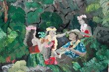 Original Hawaiian Impressionist  Oil Painting , signed