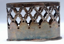 Denmark Silver Plate Holder Marked & Numbered  C Jensens Sølvvarefabrik
