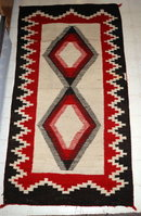 Antique Ganado  Navajo Rug  Diamonds, Red and Brown **PRICE REDUCTION!**