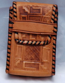Mexican Tooled Leather Cigarette  Case