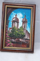 Small Painting of Cathedral  Textured Acrylic or Oil on Masonite