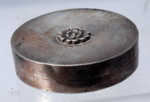 Old Silver Compact with powder from France
