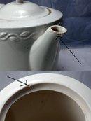 Old  Porcelier Dutch Tea Pot  large heavy Vitreous China,