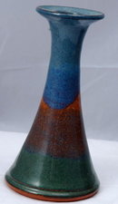 20th Century Pottery Candle Stick Holder Cady Clay Works of  North Carolina