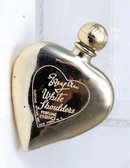 Vintage Heart Shaped    'White Shouldes',   PERFUME BOTTLE