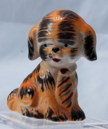 M.K. © Japan Small Ceramic Puppy Wearing a Tie