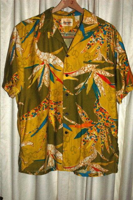 Vintage Kamehameha Hawaiian Shirt Splashy Psychedelic Mod Rayon Print size large