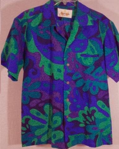 Hawaiian Kamehameha Barkcloth 1960's   Vintage  Authentic  Wild Psychedelics !