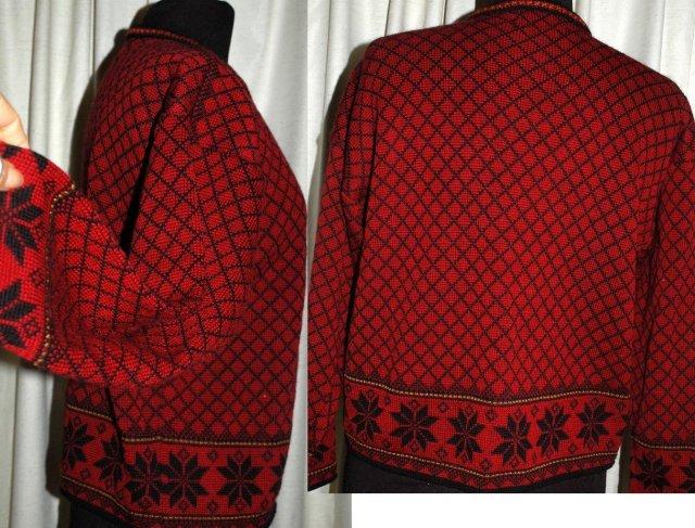 Norwegian Cardigan Sweater, Norsk Wear, 100% fine  wool Ladies Small