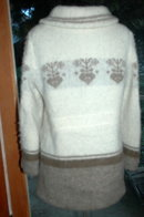 VAKA Saudarkroki Icelandic Wool Cardigan Sweater Coat  Jacket Size XL