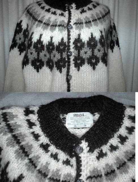 Hilda LTD. Icelandic Wool Cardigan Sweater  Men's XL