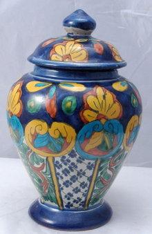 MexicanTalavera  Pottery Lidded Urn